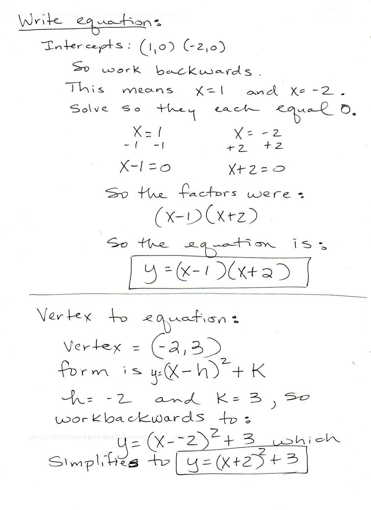 Ideas Collection Converting Quadratic Equations Worksheet Standard Or Converting Quadratic Equations Worksheet Standard To Vertex