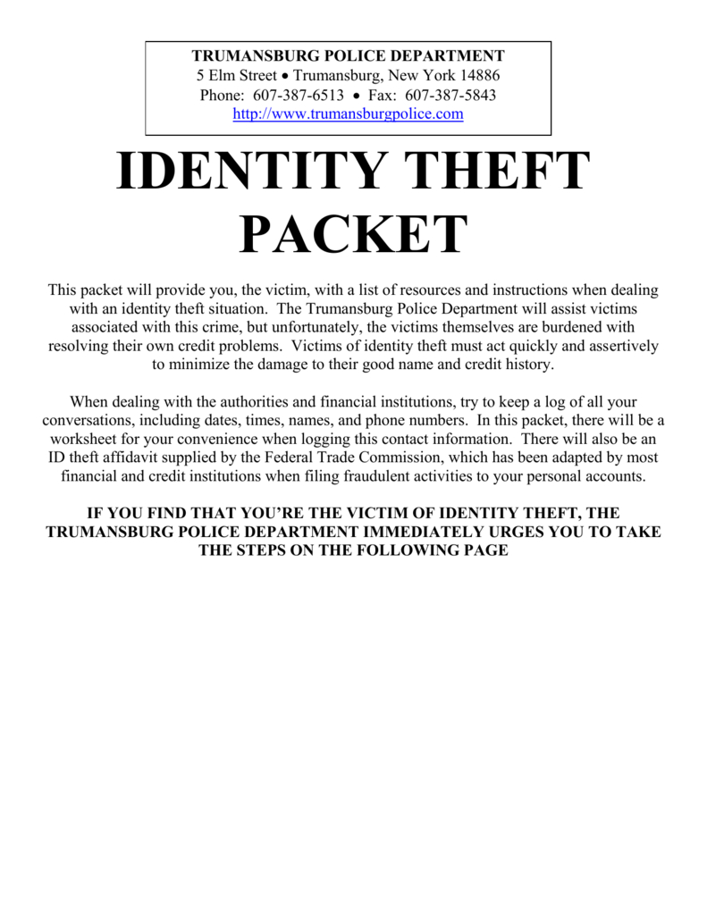 Identity Theft Packetworksheet In Identity Theft Worksheet Answers