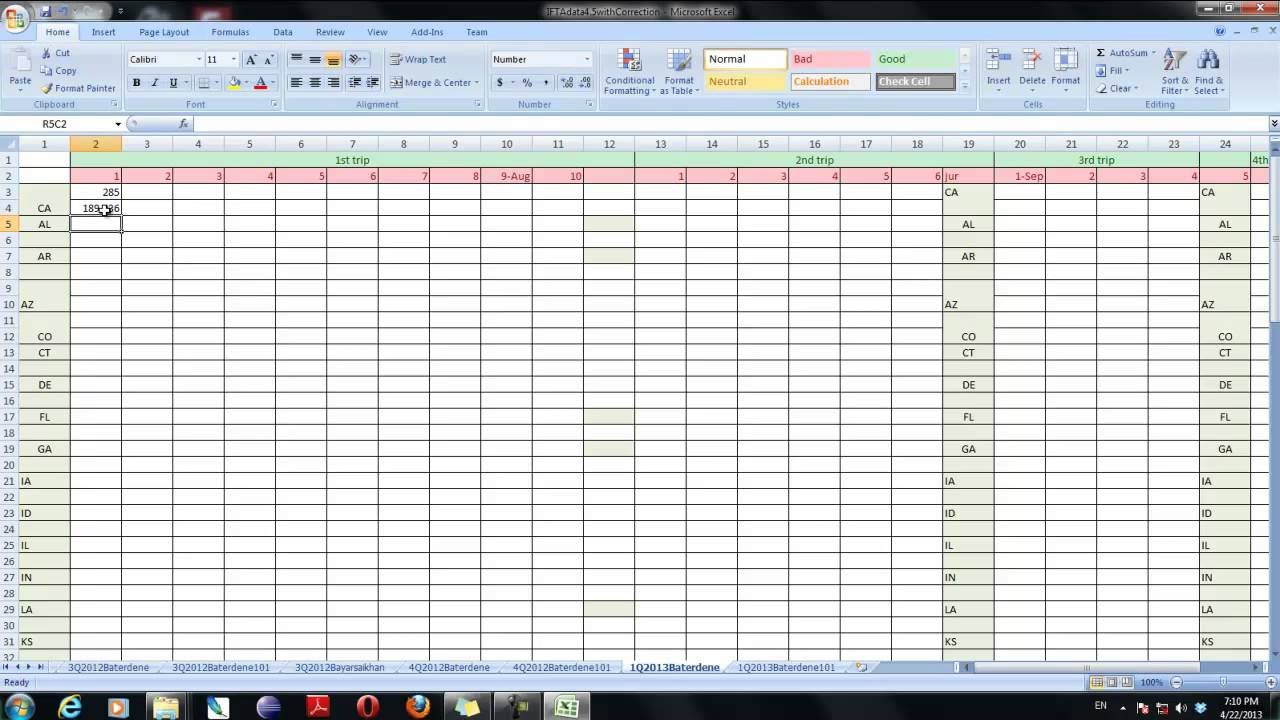 Ifta Using Excel   Youtube Together With Ifta Fuel Tax Spreadsheet