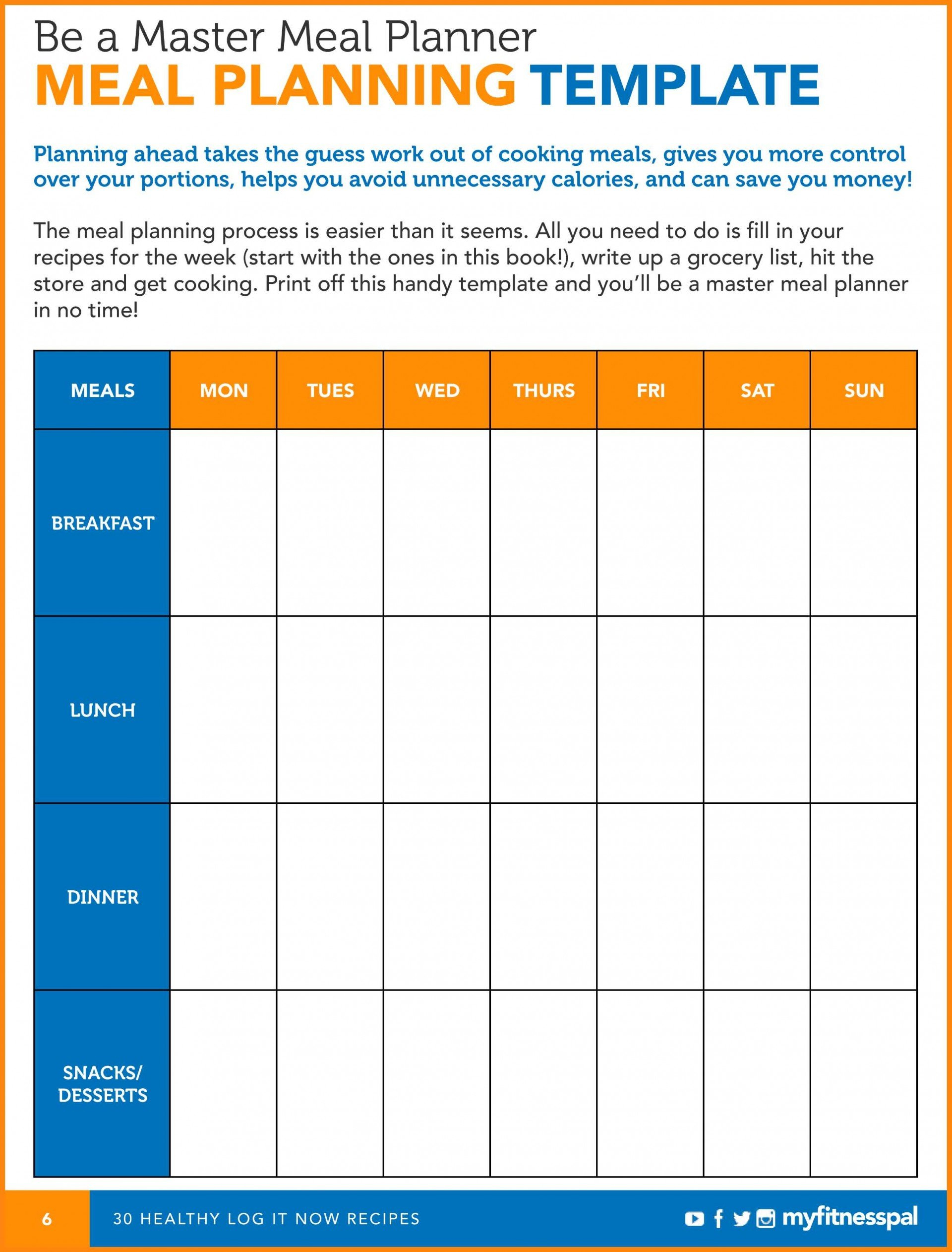 Incredible Daily Meal Plan Template Templates Food Worksheet Within Diabetic Meal Planning Worksheet