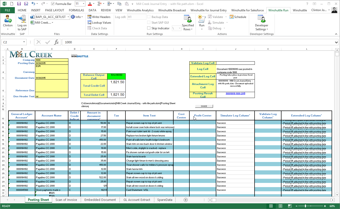 Integrate Sap To Excel | Winshuttle Software Pertaining To Data Spreadsheet Template 5