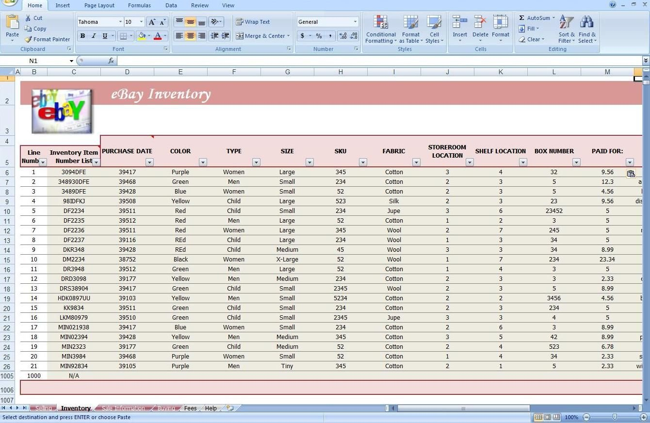 Jewelry Inventory Spreadsheet Template Ebay Store Spreadsheet Track ... Also Convenience Store Accounting Spreadsheet
