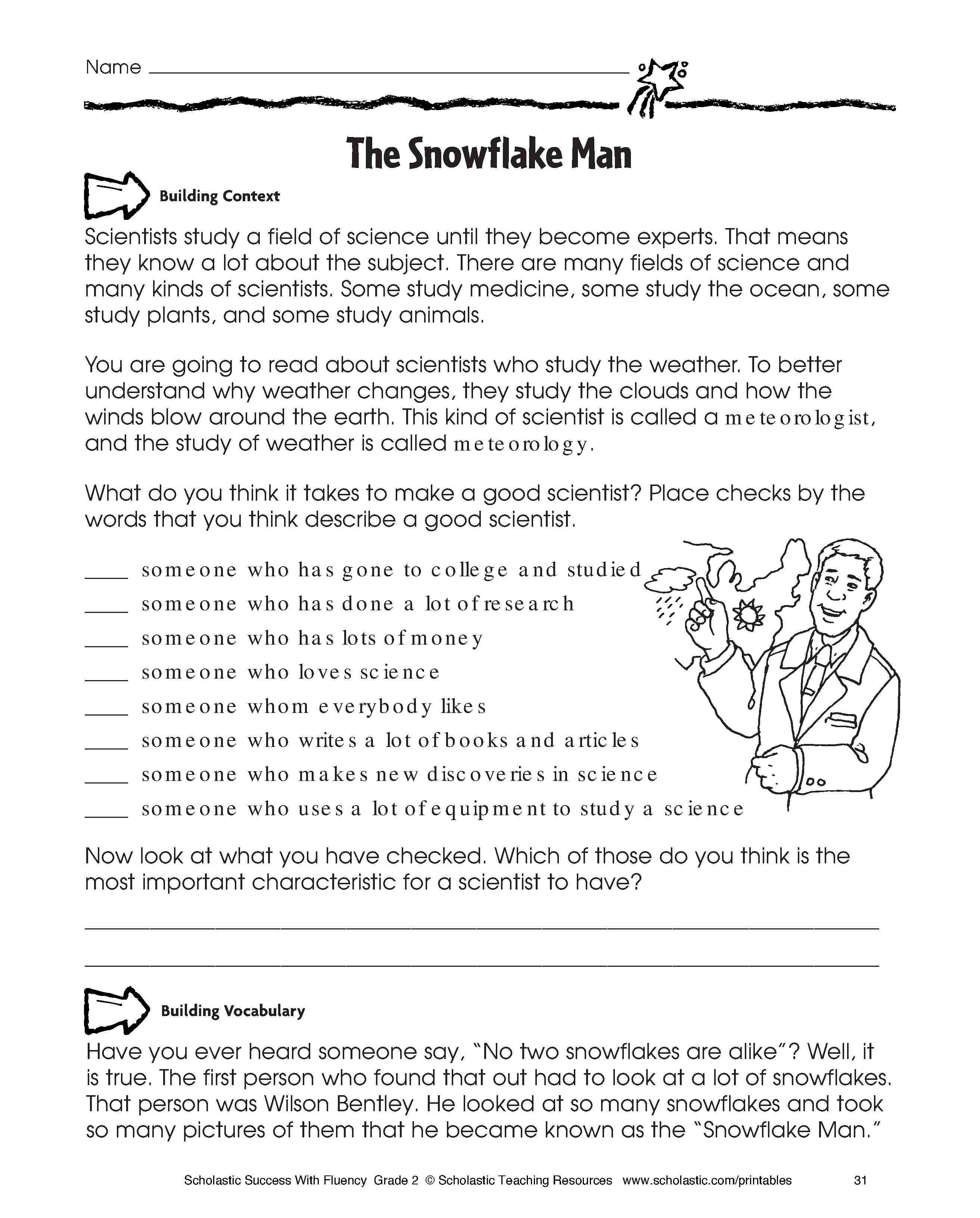 Kindergarten English Activities For Primary Students Family Within Free Printable Character Education Worksheets Middle School