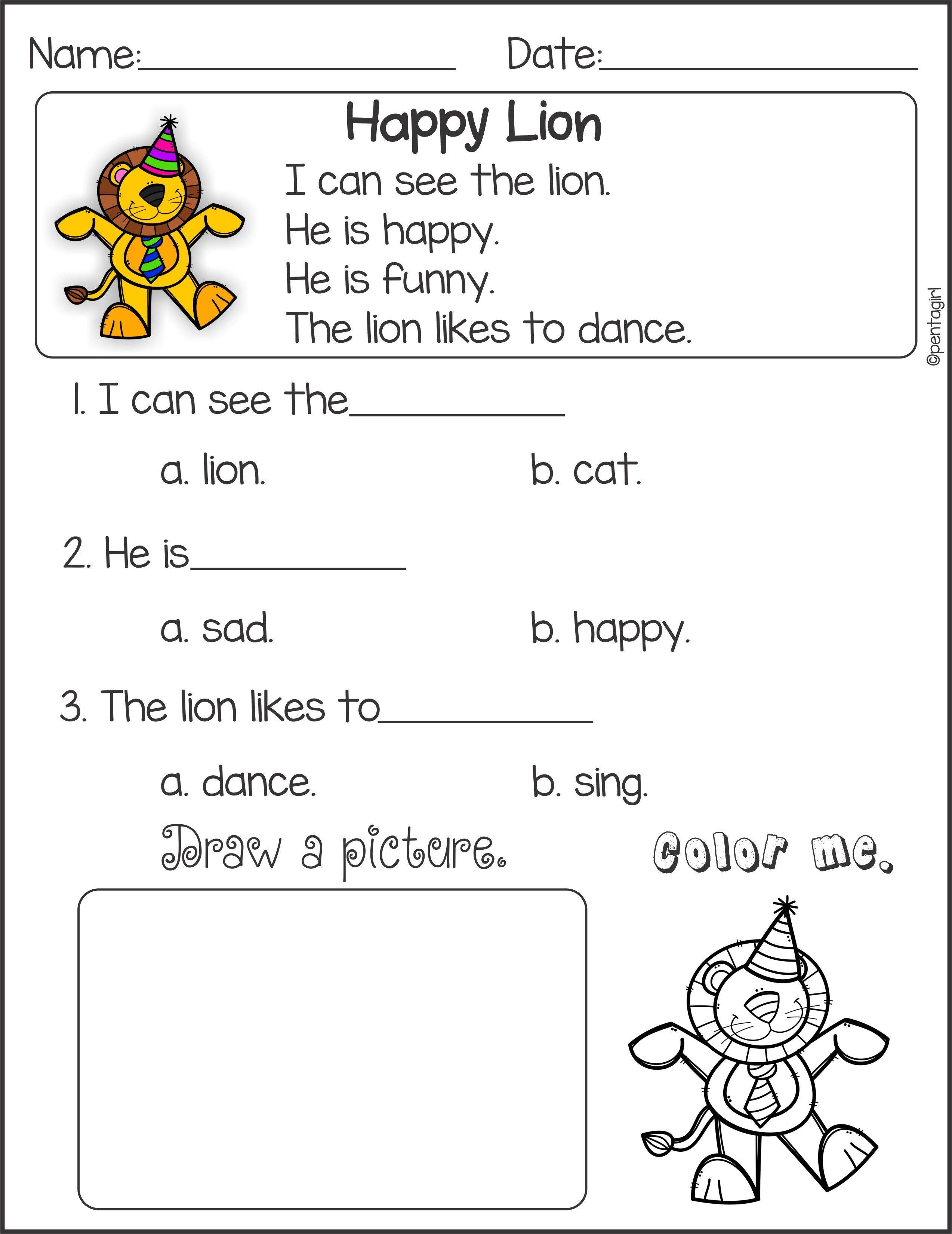 Kindergarten Worksheet Reading For Kindergarten Practice Number Within Reading For Kid Worksheet