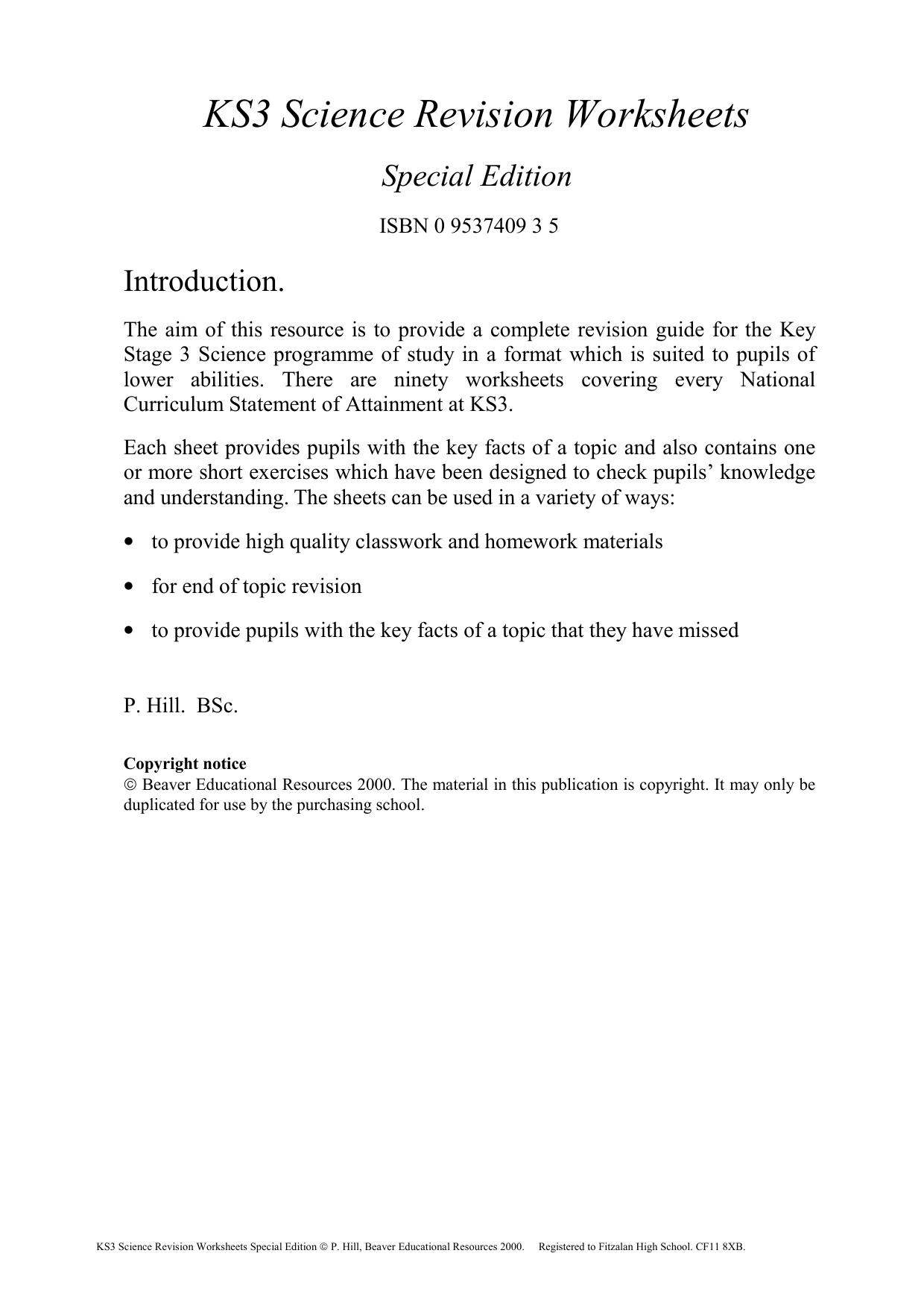 Ks3 Summary Revision Worksheets2Jnbiuu Pertaining To Science Worksheets Special Education