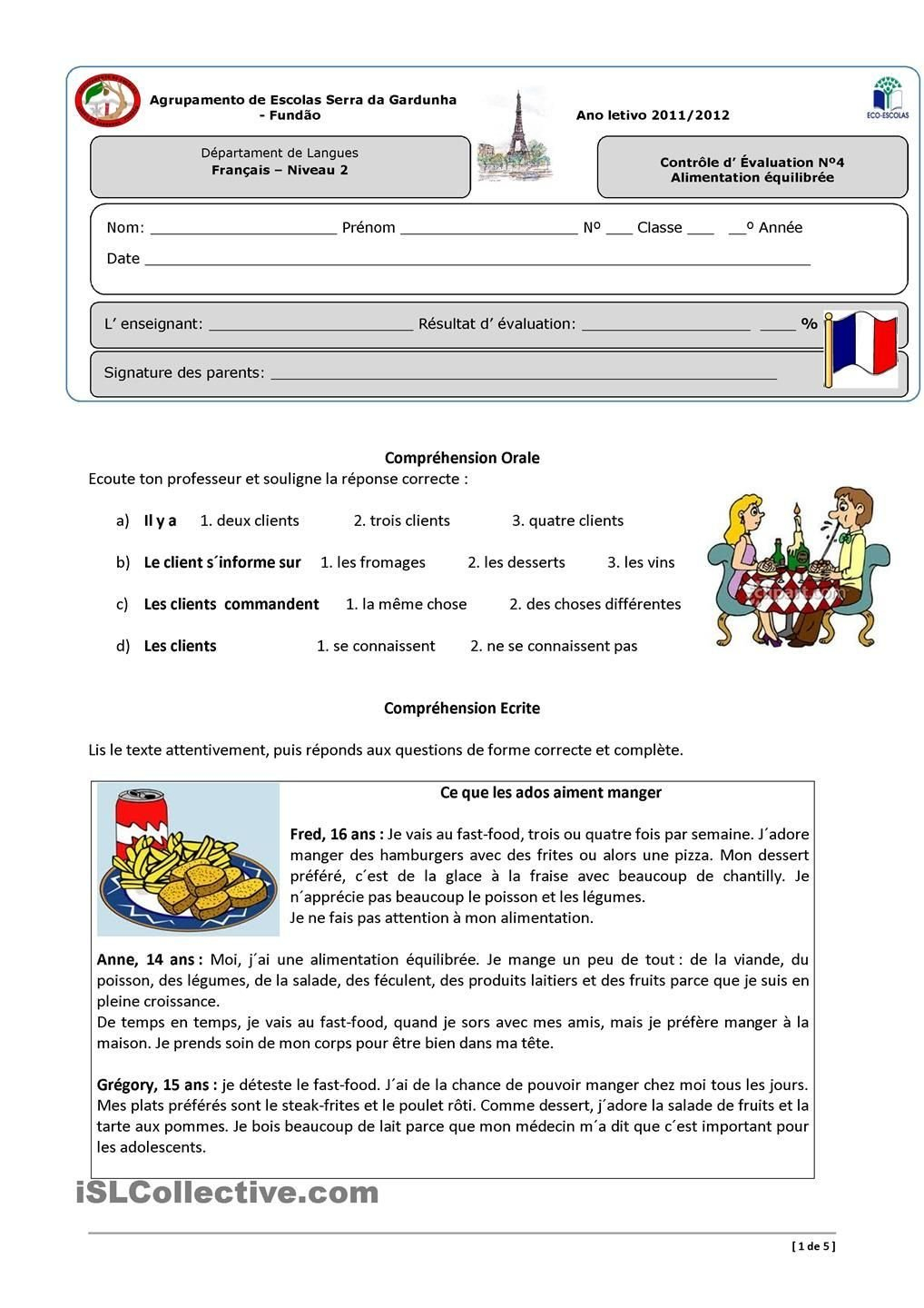 La Famille French Worksheet  Briefencounters Intended For La Famille French Worksheet