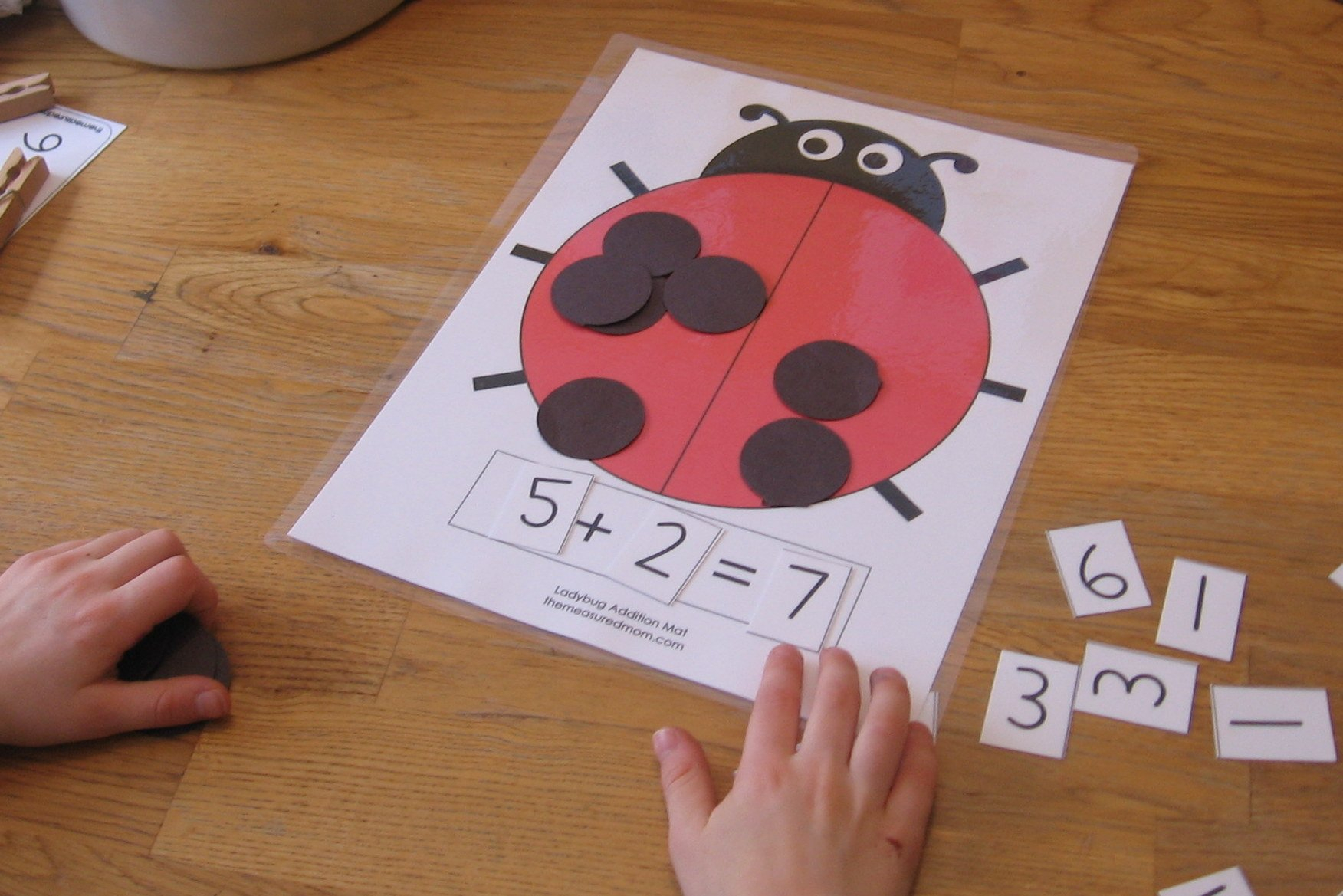 Ladybug Math For Preschool Kindergarten  1St Grade  The Measured Mom With Regard To Ladybug Math Worksheets
