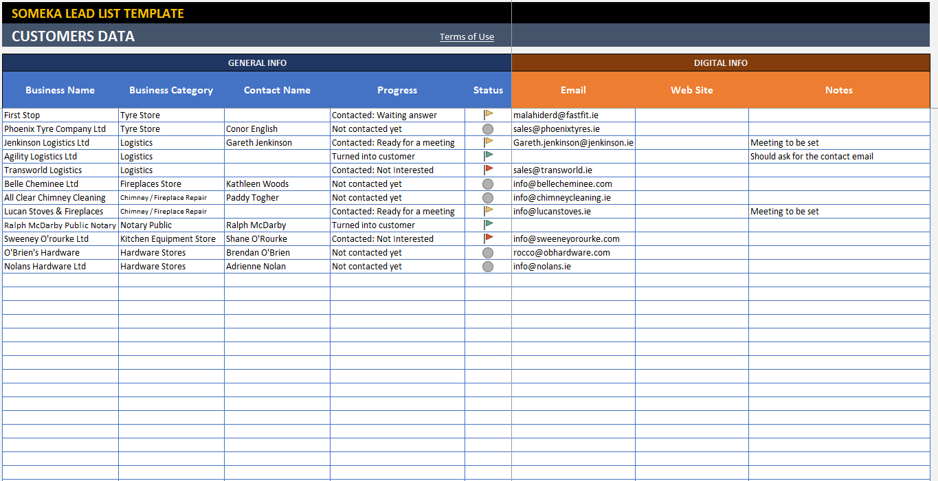 Lead Tracking Excel Template - Customer Follow Up Sheet And Sales Lead Template Forms