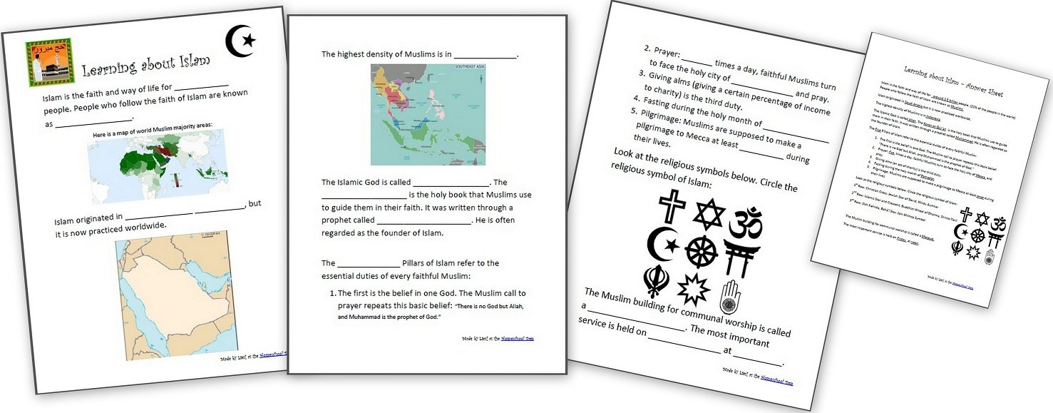 Learning About Islam  Free Worksheets And Resources For Kids For Rise Of Islam Worksheet