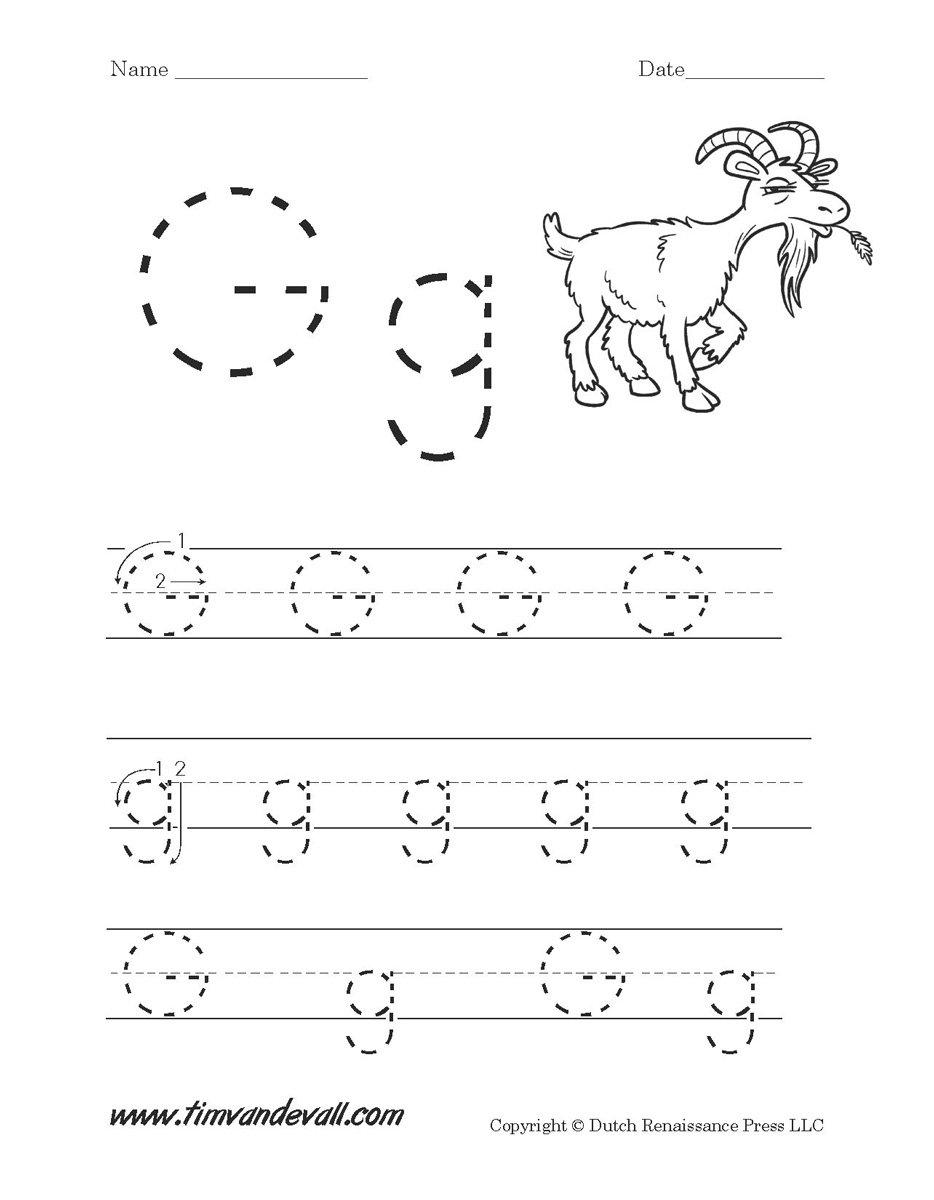 Letter G Worksheets  Preschool Alphabet Printables Pertaining To Letter G Tracing Worksheets Preschool