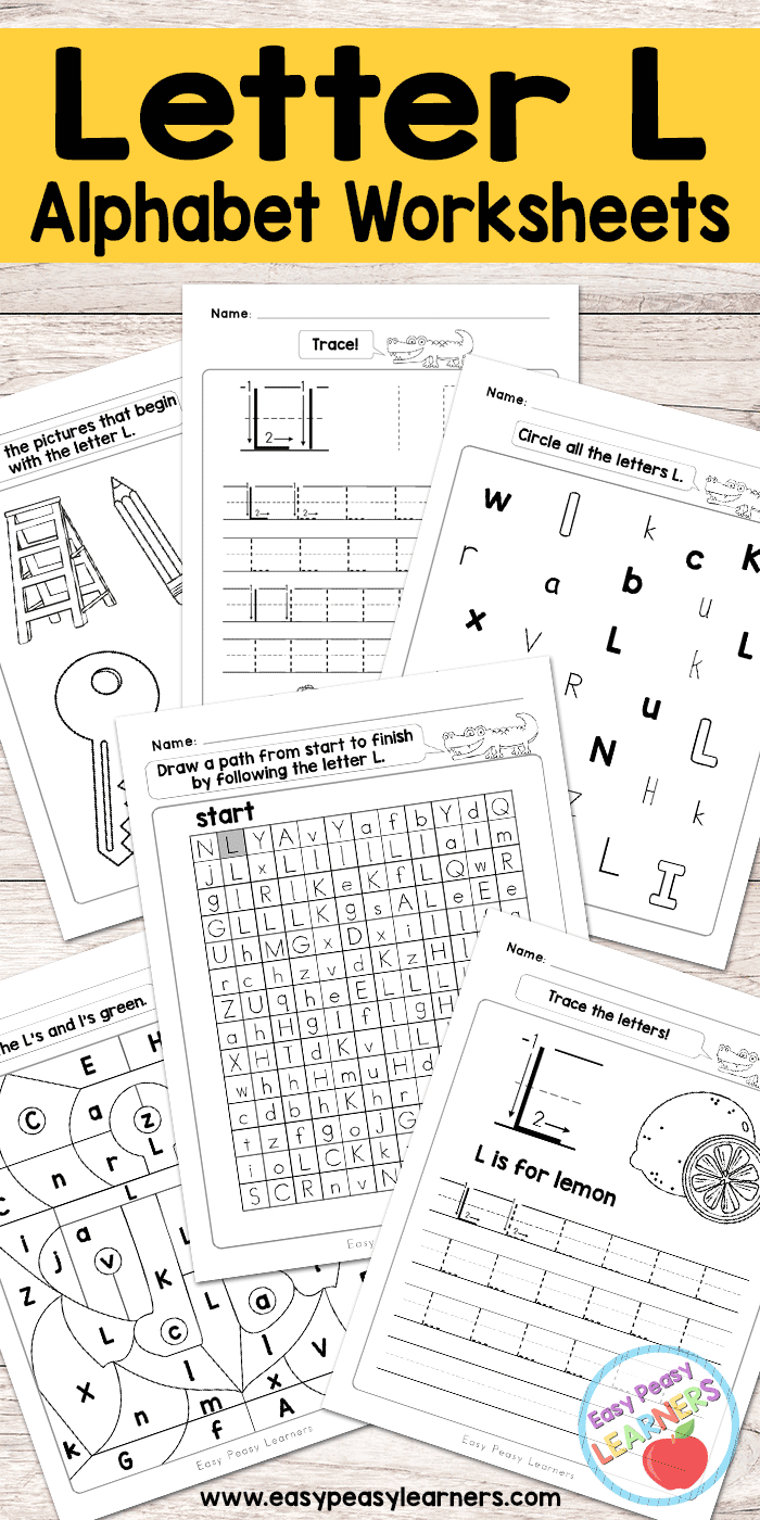 Letter L Worksheets  Alphabet Series  Easy Peasy Learners Pertaining To Learning Letters Worksheets