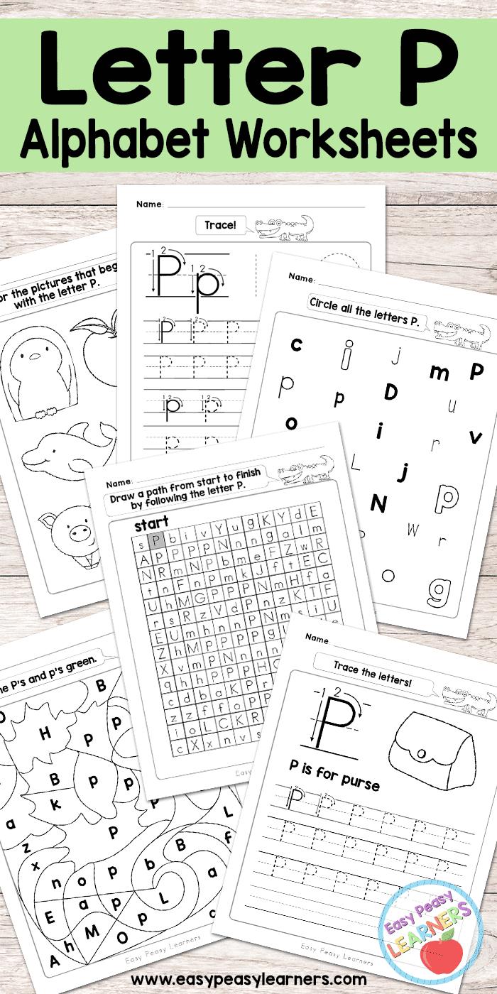 Letter P Worksheets  Alphabet Series  Easy Peasy Learners Regarding Letter P Worksheets For Preschool