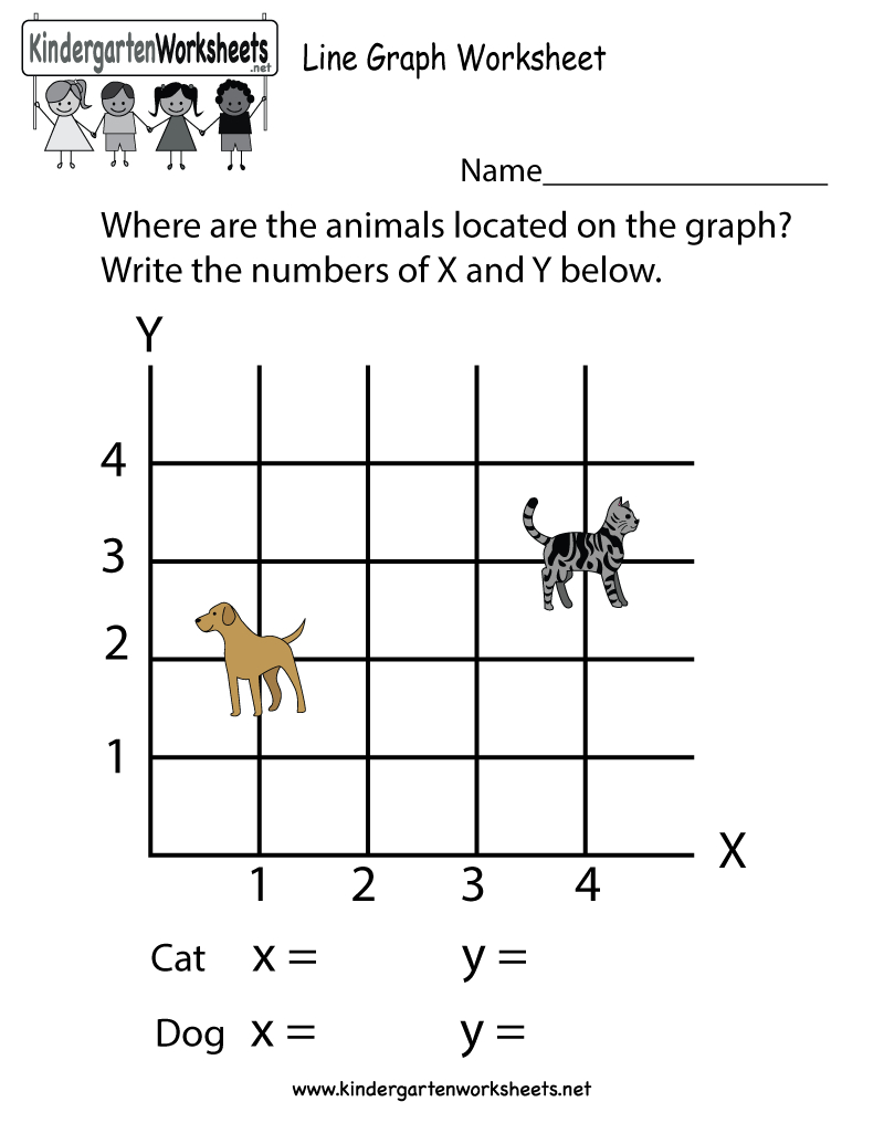 Line Graph Worksheet  Free Kindergarten Math Worksheet For Kids As Well As Line Graph Worksheets