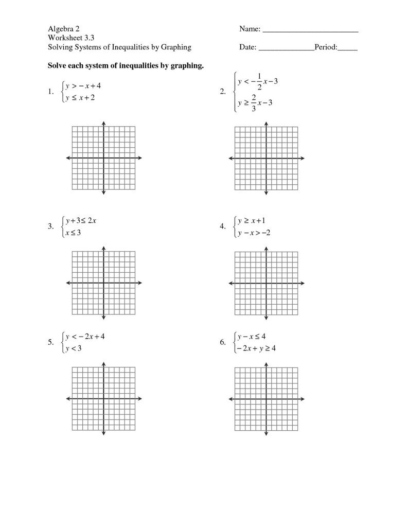 Linear Inequalities Worksheet With Answers Inspirational Graphing Along With Solving Systems Of Inequalities By Graphing Worksheet Answers 3 3