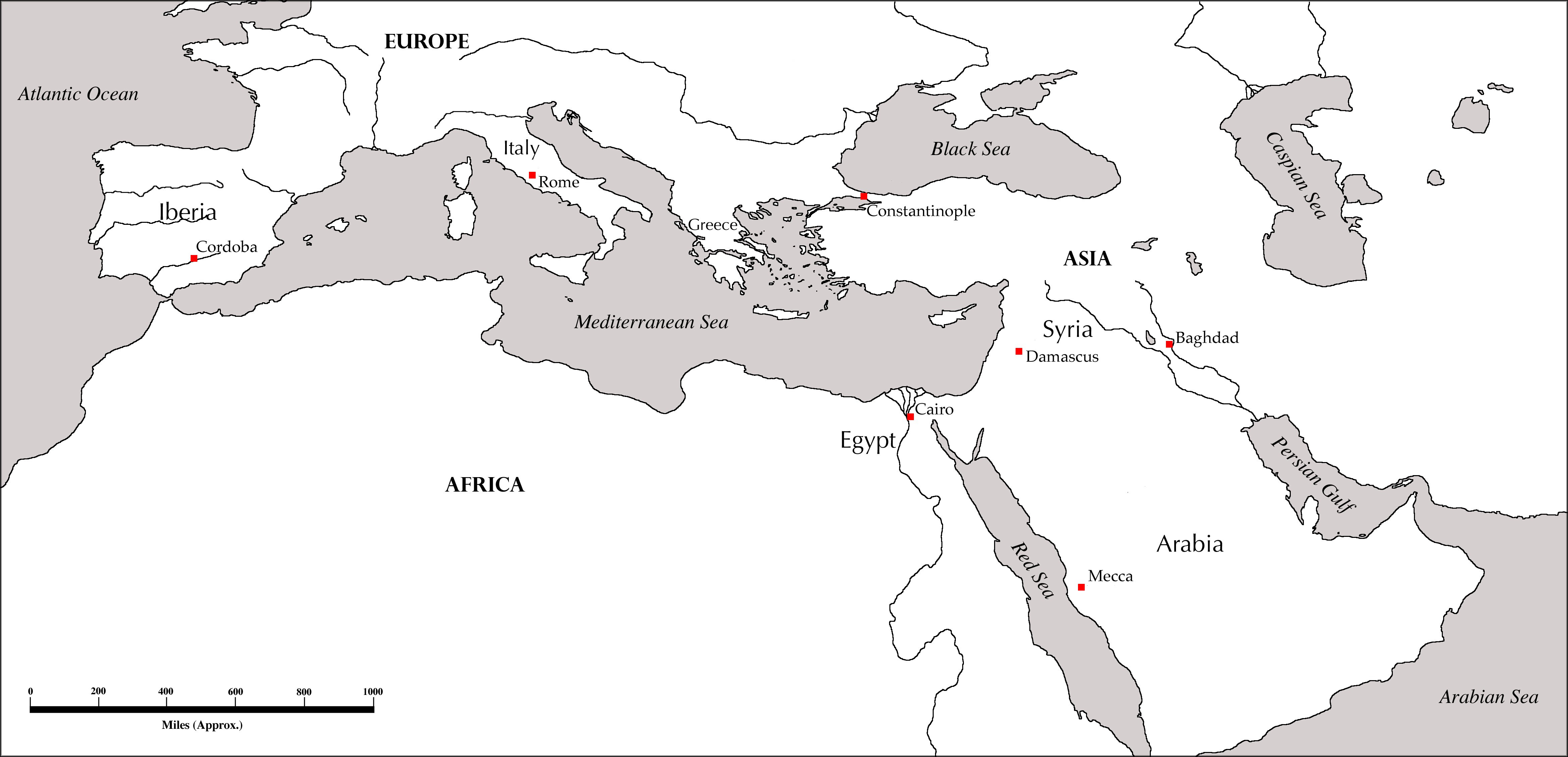 Maps For Rise Of Islam Worksheet