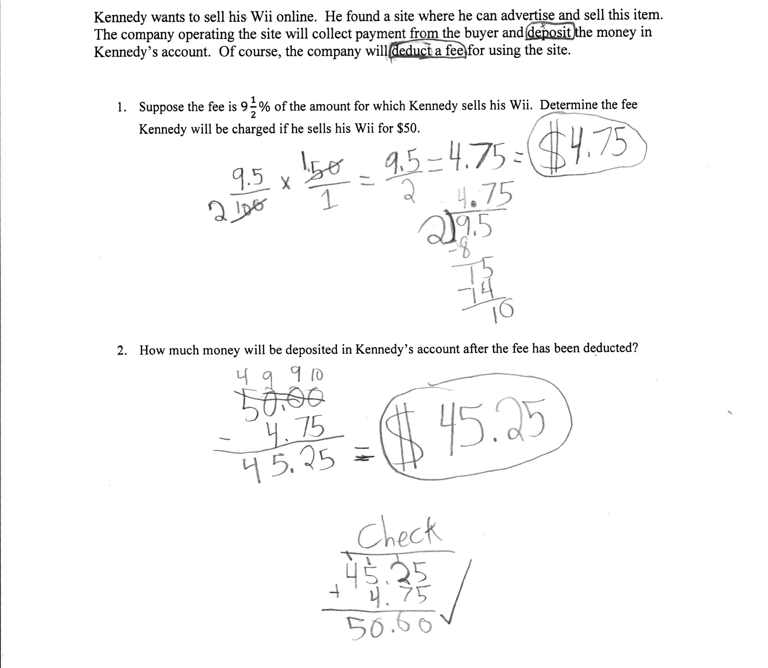 Markdown Percentage Formula Math Excel Markup Formula Calculate And Markup And Markdown Worksheet Answers