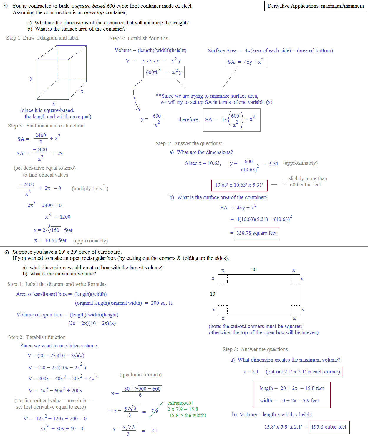Math Plane  Derivative Maxmin Word Problems In Functions Word Problems Worksheet Pdf