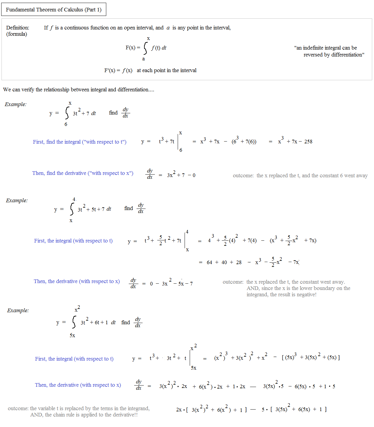 Math Plane  Fundamental Theorem Of Calculus Part 1 And Fundamental Theorem Of Algebra Worksheet Answers