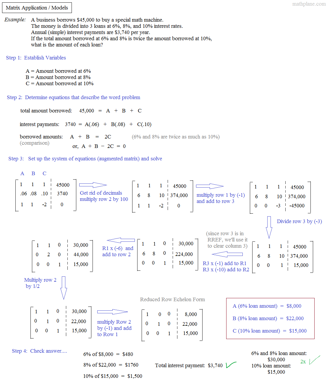 Math Plane  Matrix I  Introduction Examples  Notes Or Matrices Worksheet With Answers Pdf