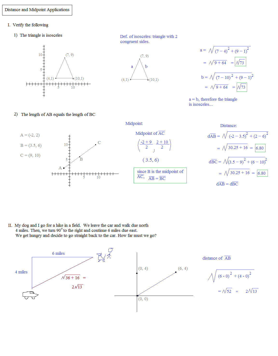 Math Plane  Midpoint And Distance Together With Midpoint And Distance Formula Worksheet Pdf