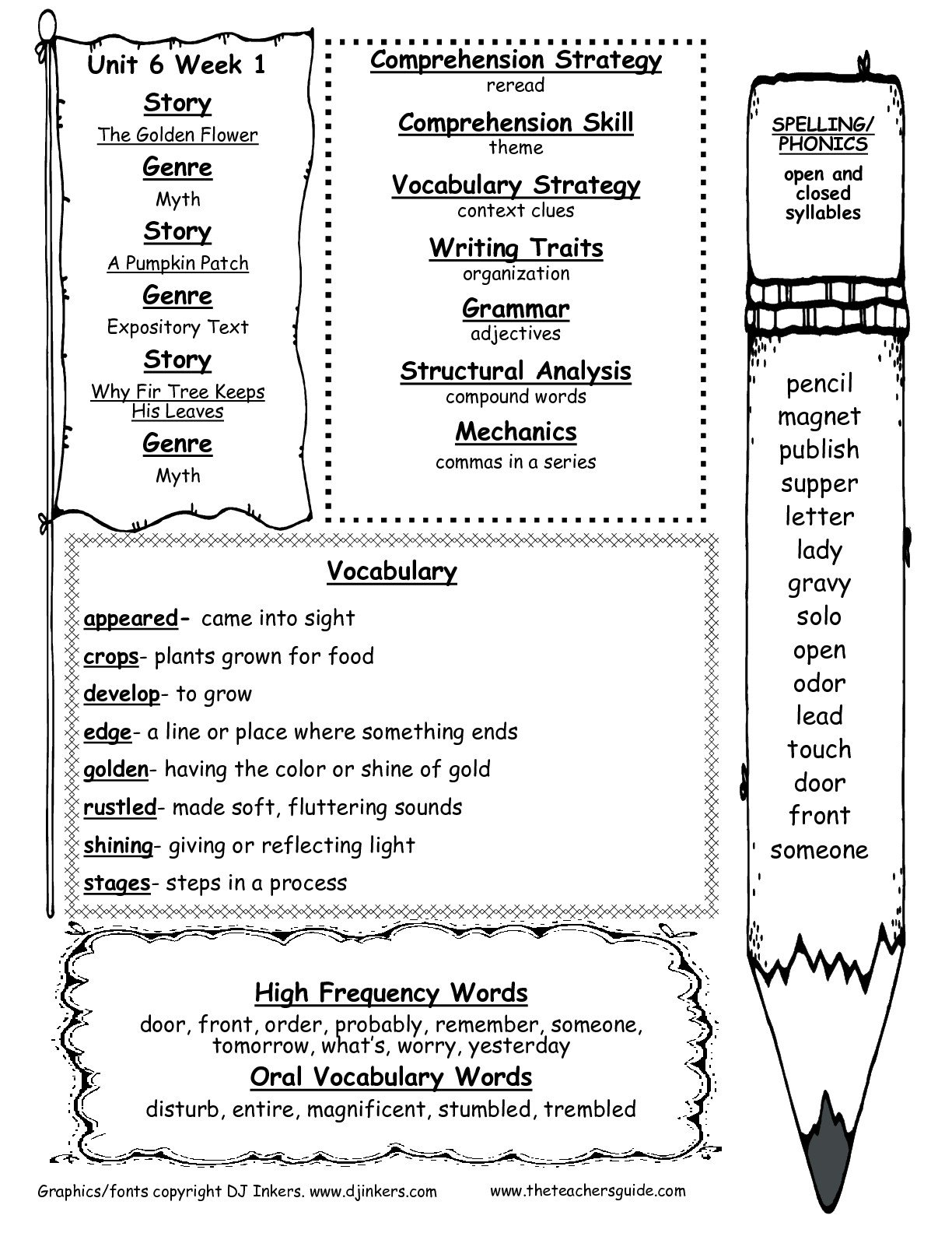 Mcgrawhill Wonders Second Grade Resources And Printouts For Fourth Grade Sight Words Worksheets