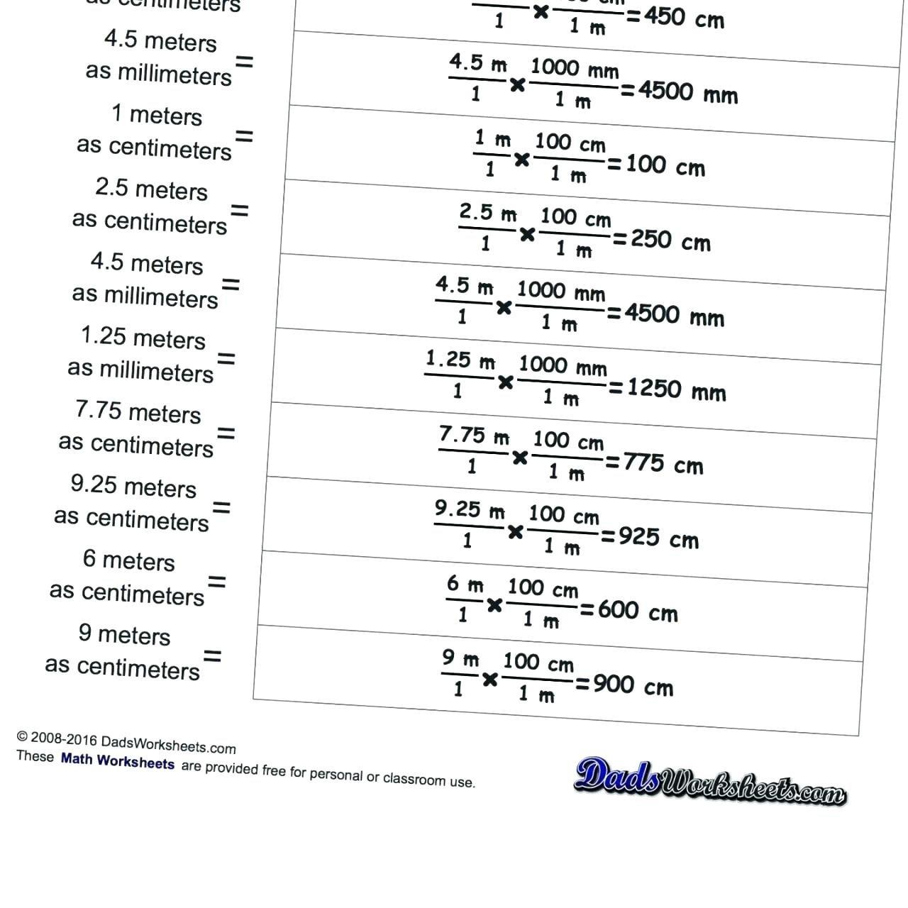 Measuring Units Worksheet Answer Math Worksheet Convert Measurements Or Unit Conversion Worksheet Answers