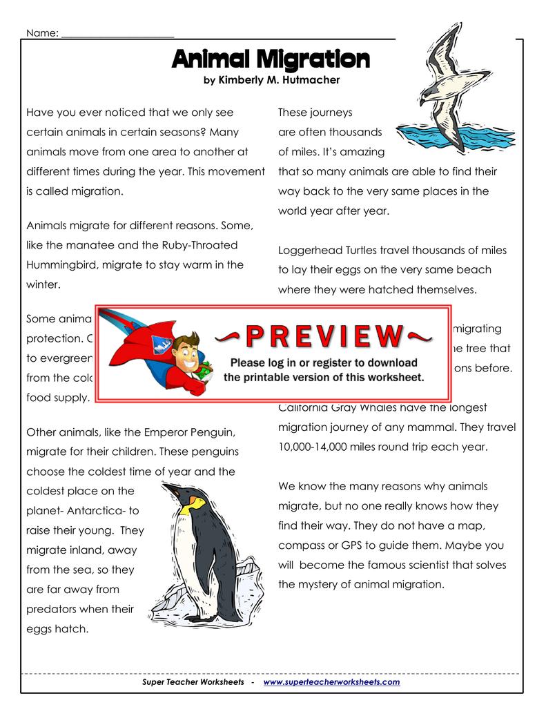 Migration  Super Teacher Worksheets Pertaining To Animal Migration Super Teacher Worksheets