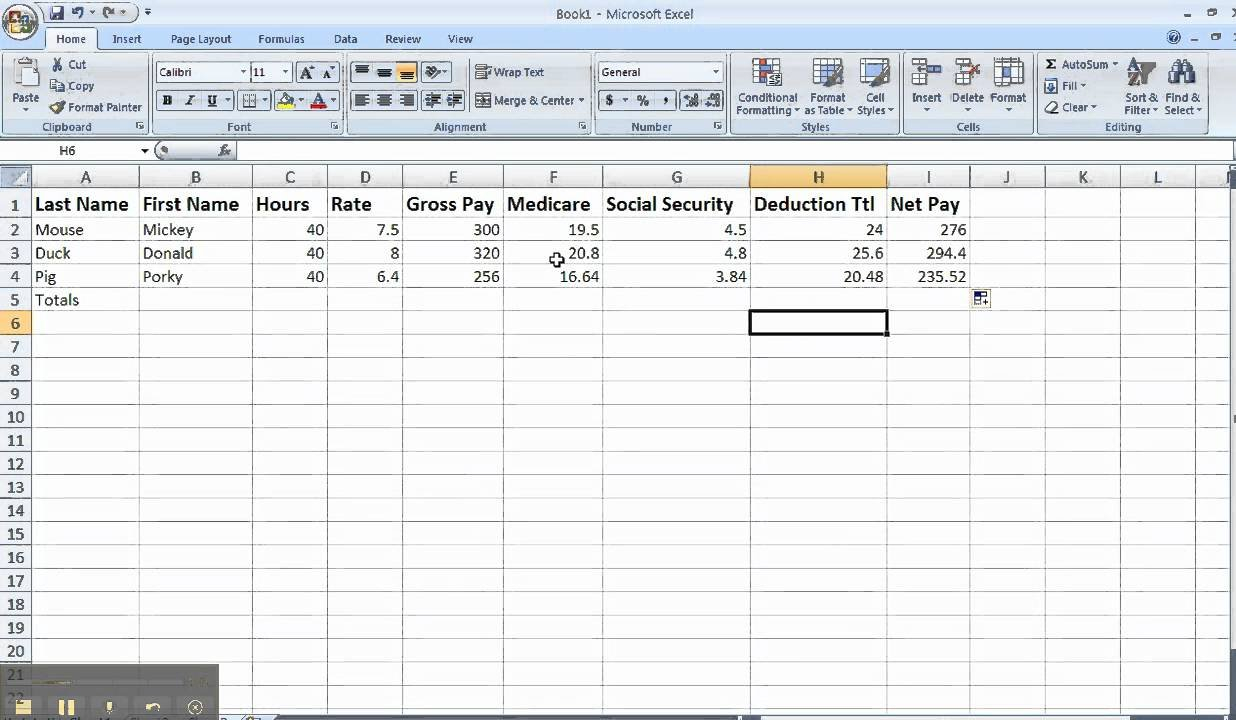 Mj Payroll Spreadsheet Tips - Youtube With Payroll Spreadsheet