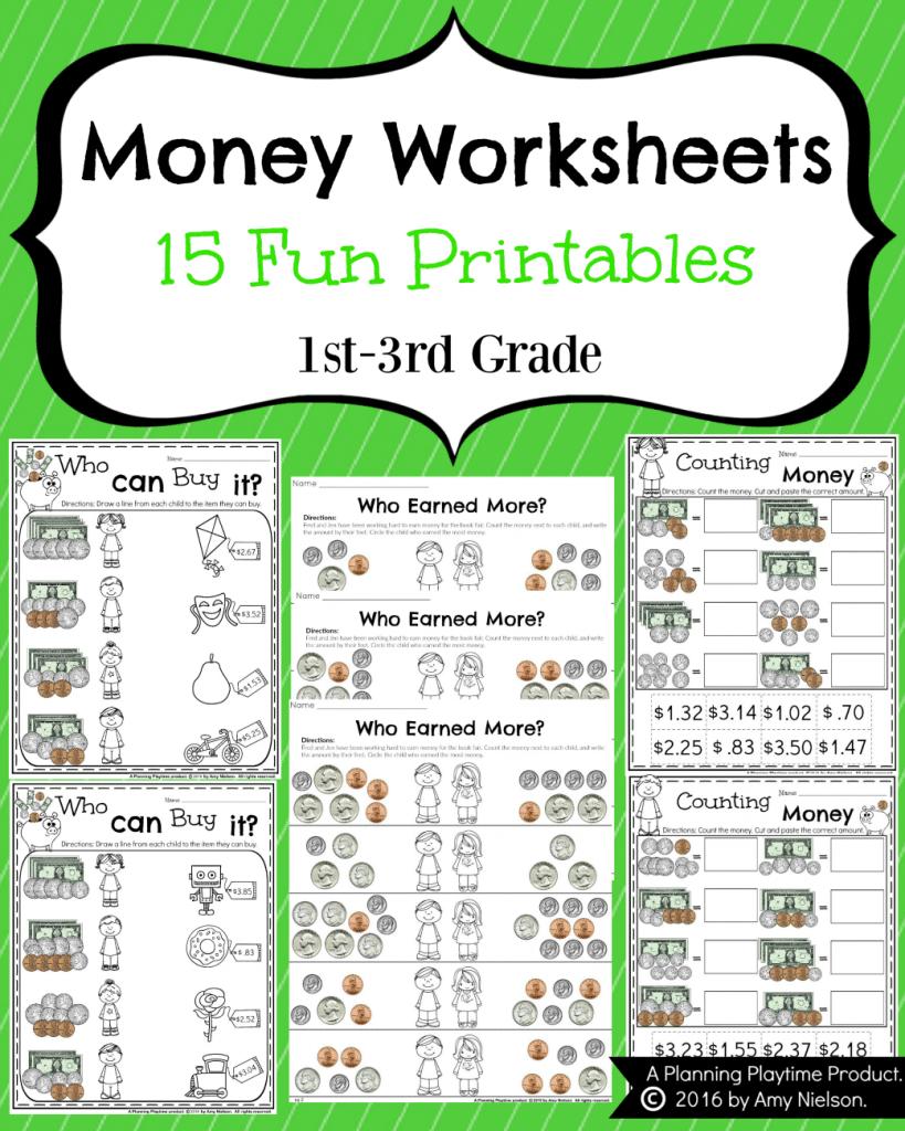 Money Worksheets For 2Nd Grade  Planning Playtime Along With Fun Worksheets For 2Nd Grade