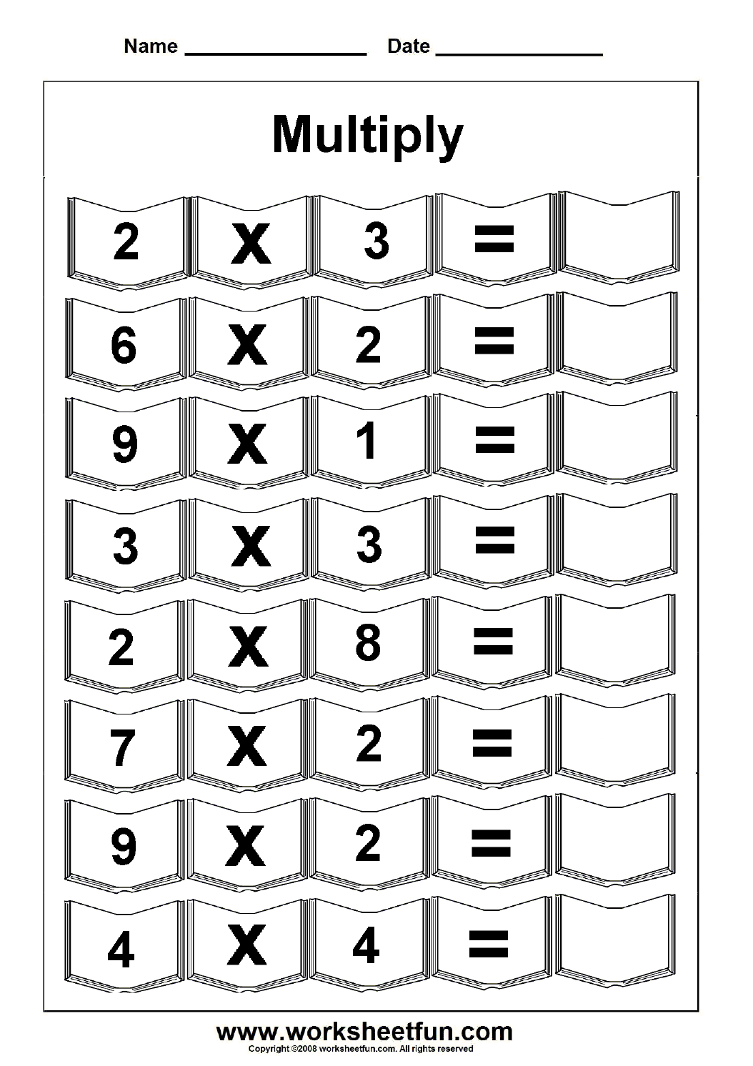 Multiplication – 5 Worksheets  Free Printable Worksheets – Worksheetfun Or Th Worksheets Printable