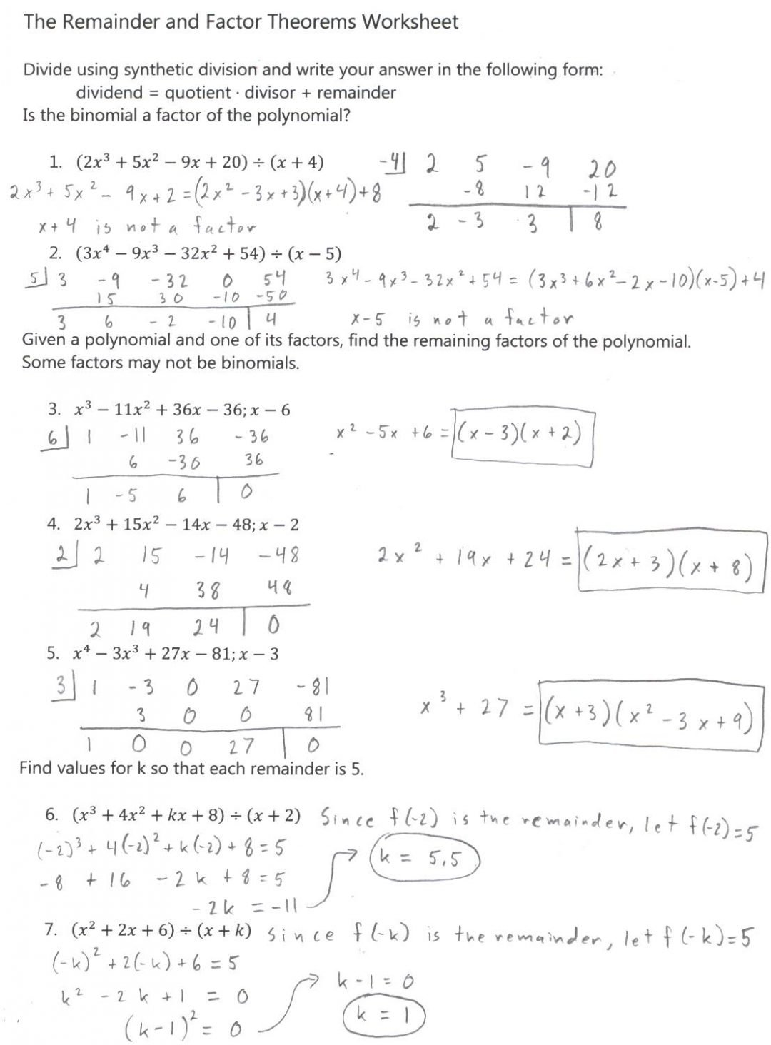 Multiplication And Division Worksheets Grade 4  Yooob Along With Synthetic Division Worksheet With Answers