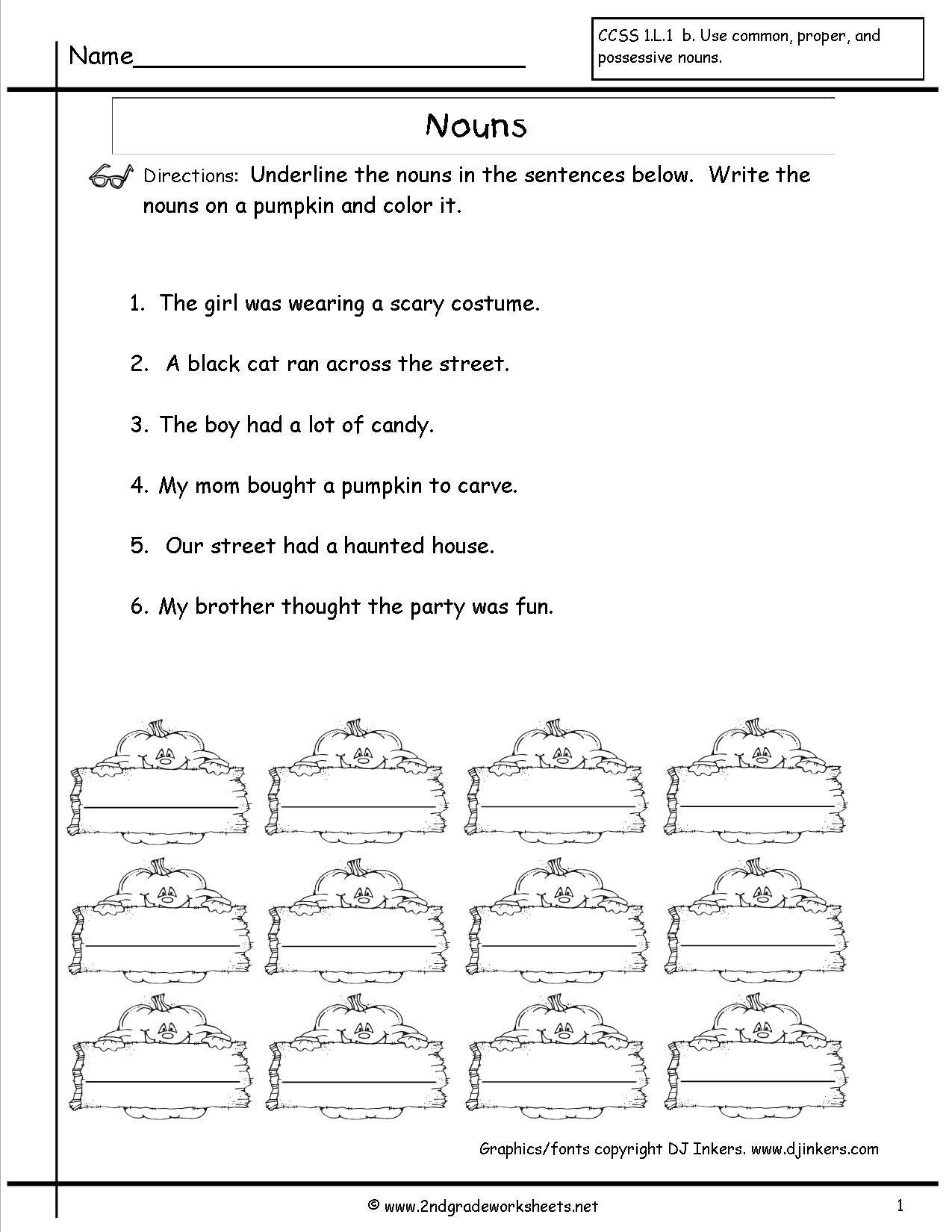 Nouns Worksheet 4Th Grade — excelguider.com