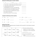 Nuclear Chemistry Worksheet With Regard To Nuclear Chemistry Worksheet Answer Key