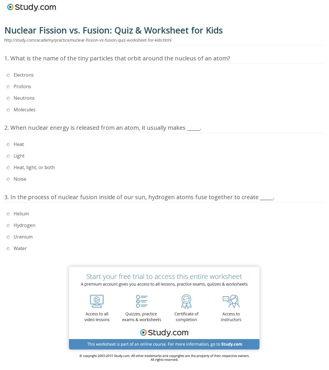 Nuclear Fusion Fission Worksheet Also Nuclear Chemistry Worksheet Answer Key