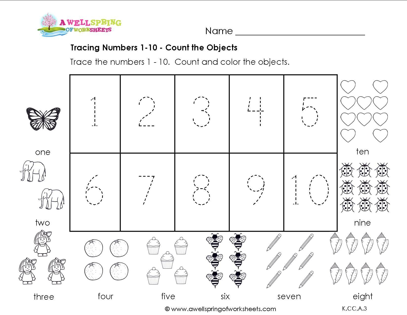 Number Tracing Worksheets 1 20  Printable Coloring Page For Kids And Number Tracing Worksheets 1 20