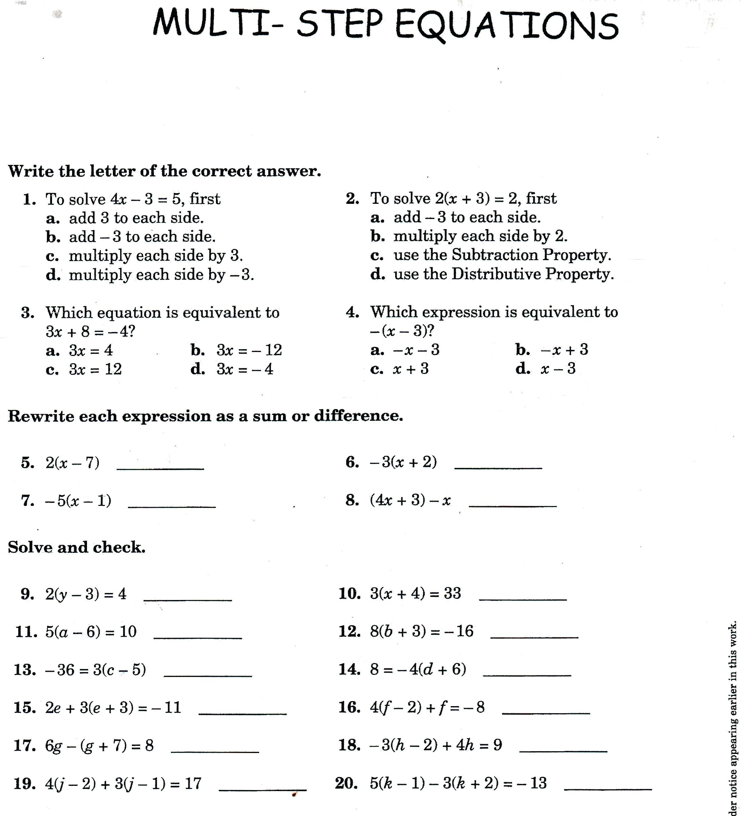 One Step Equation Word Problems Math – Upskillclub Along With Two Step Equations Word Problems Worksheet