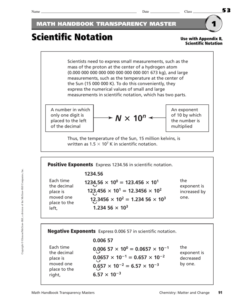 Operations With Scientific Notation Or Operations In Scientific Notation Worksheet
