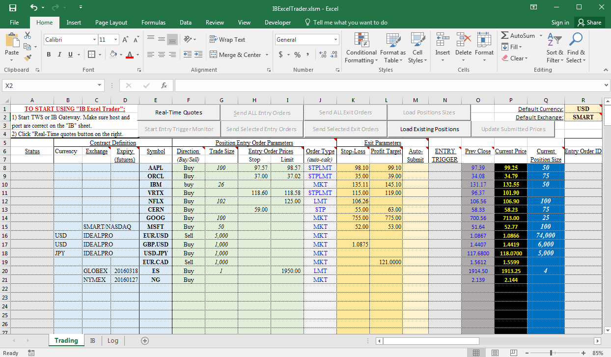 Option Trading Excel , With Excel Spreadsheet For Option Trading