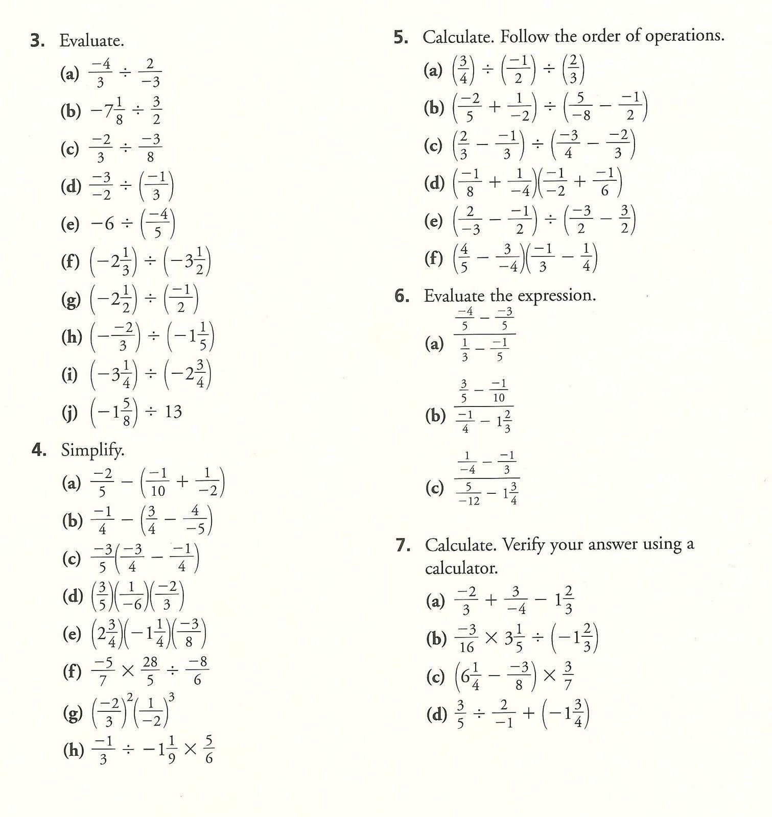 Order Of Operations With Fractions Worksheet  Briefencounters With Order Of Operations With Fractions Worksheet