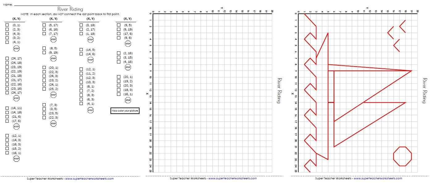 Ordered Pairs And Coordinate Plane Worksheets Intended For Plotting Points On A Graph Worksheet