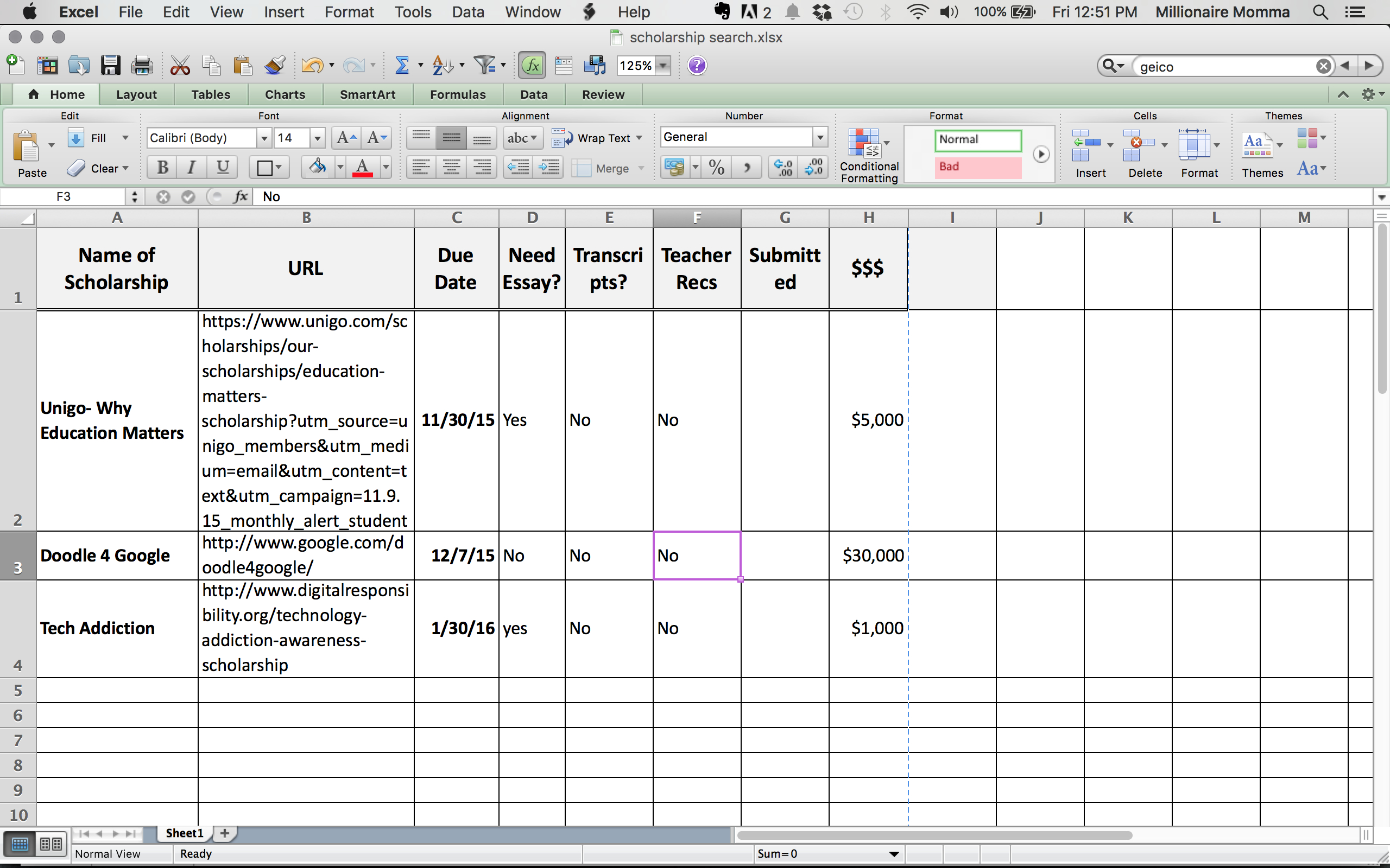 Organize Your Scholarship Search With Free Spreadsheet  College Prepped Intended For Scholarship Tracker Worksheet