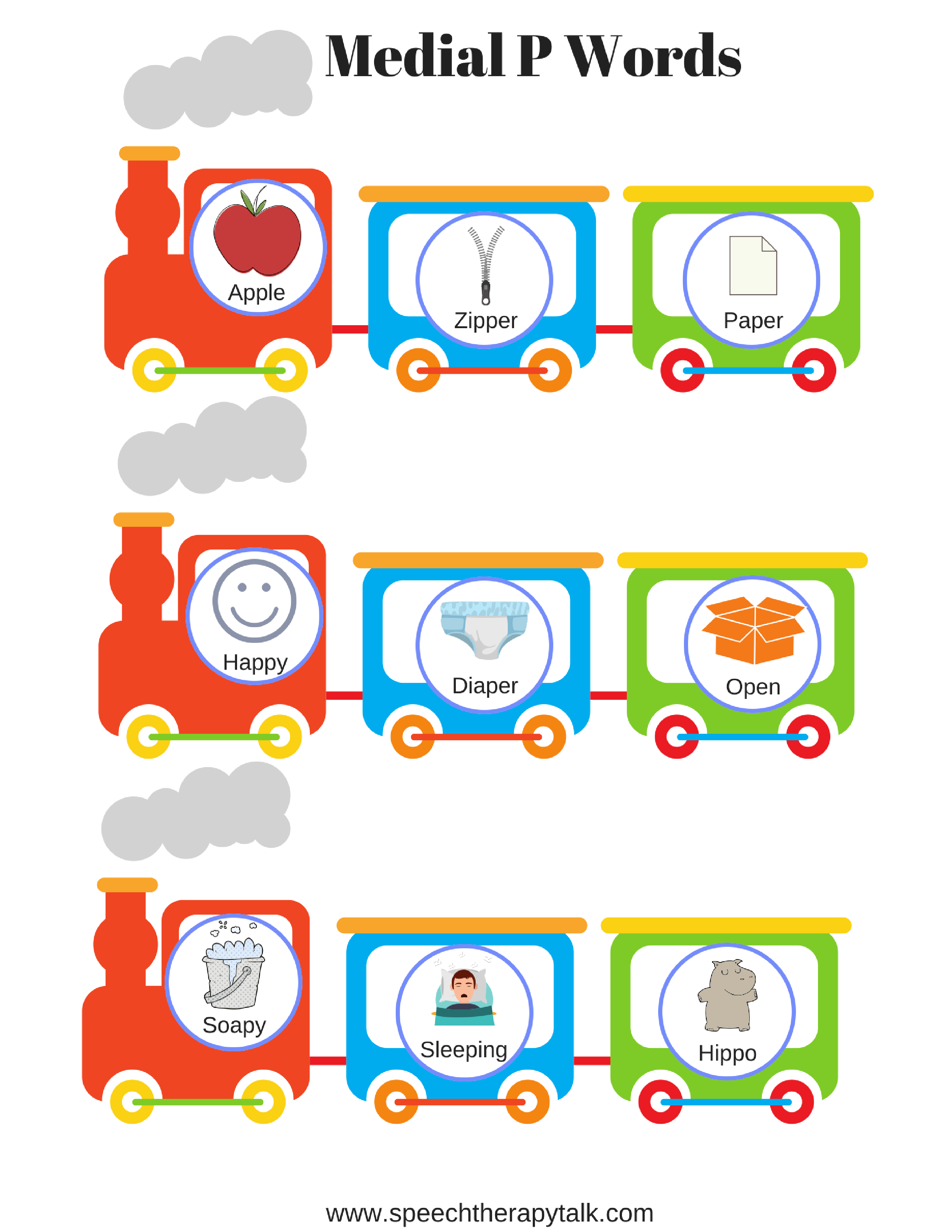 P Word List For Speech Therapy Within Speech Therapy Worksheets