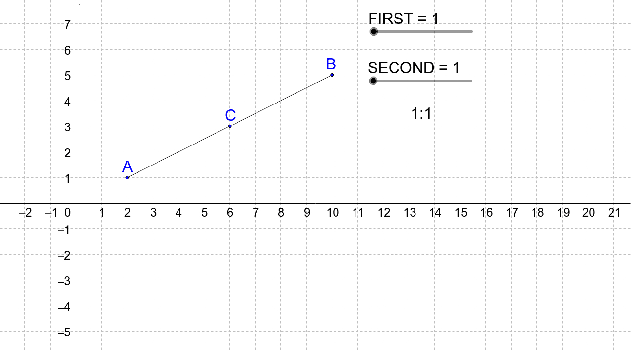 Partitioning Of Line Segment Exploration 3 – Geogebra As Well As Partitioning A Line Segment Worksheet