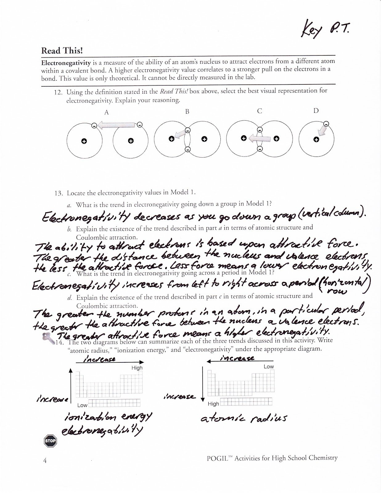 Periodic Trends Worksheet Answers Throughout Periodic Trends Worksheet Answers