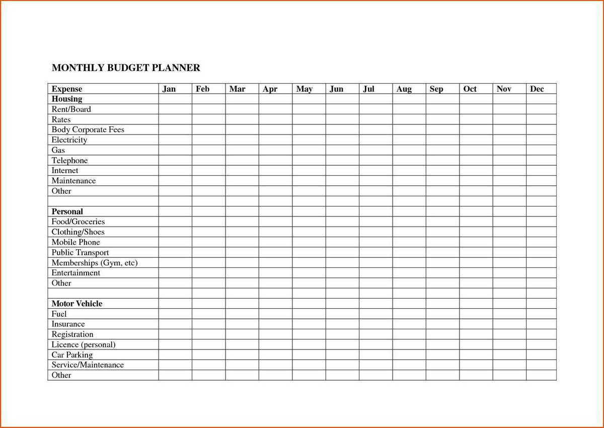 Personal Monthly Budget Excel Spreadsheet How To Make An For Also Monthly Expense Worksheet Template
