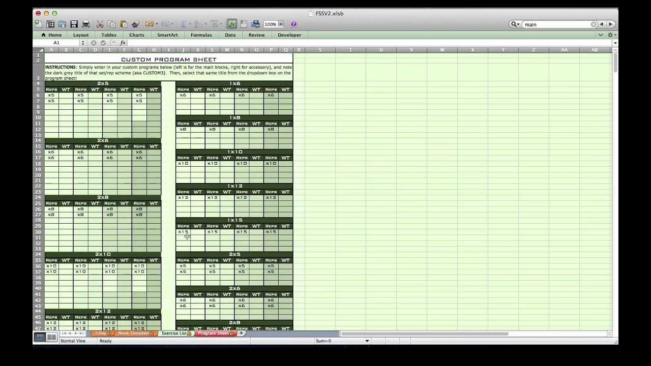 Personal Training Excel Spreadsheet From Excel Training Designs ... In Personal Trainer Spreadsheet
