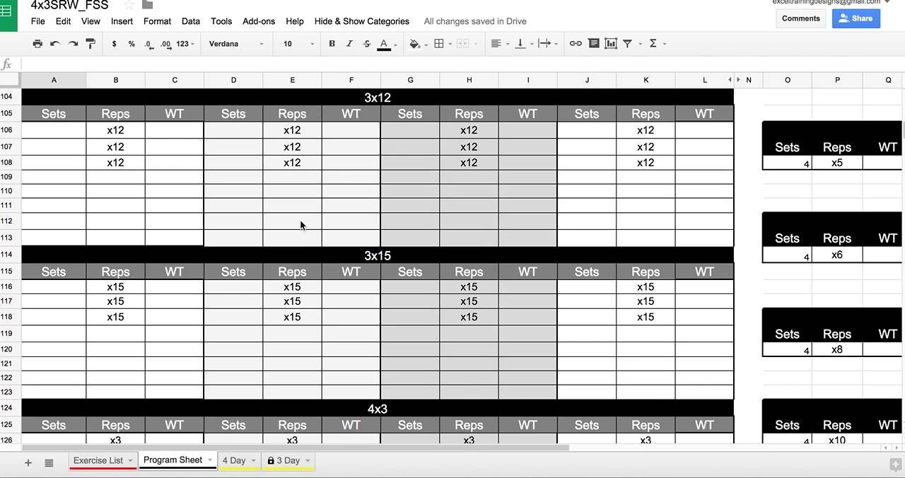 Personal Training Spreadsheet In Google Drive - Youtube Intended For Personal Trainer Spreadsheet