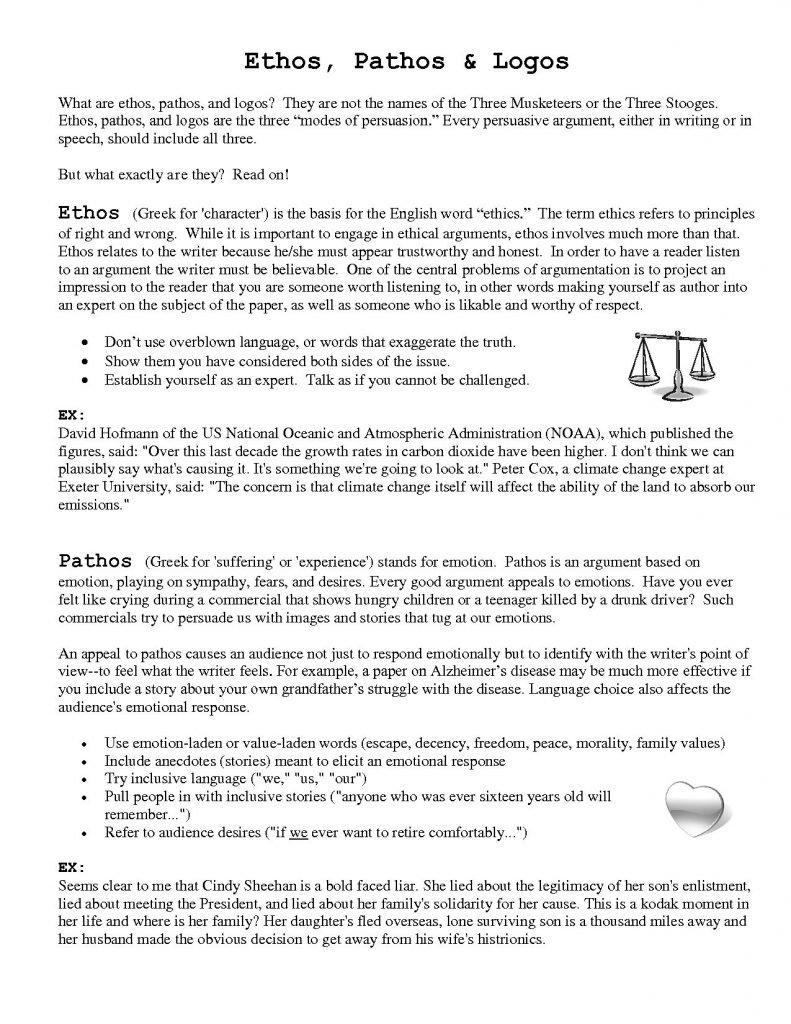 Persuasive Language Identifying Ethos Pathos Logos In Advertising With Persuasive Techniques In Advertising Worksheet Answer Key