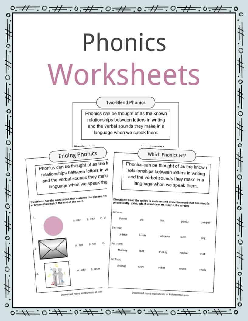 Phonics Table Worksheets  Examples  Definition For Kids With Regard To Y To Ied Worksheets