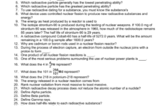 Physical Science Worksheet Nuclear Energy Short Answer 1 How or Physical Science Worksheets